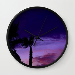 Palm Sunset - 9 Wall Clock