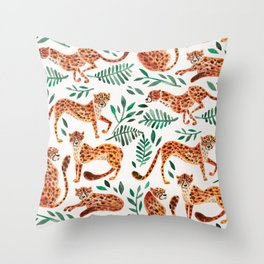 Cheetah Collection – Orange & Green Palette Throw Pillow