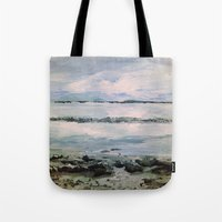 maine Tote Bags featuring Maine by Samantha Crepeau