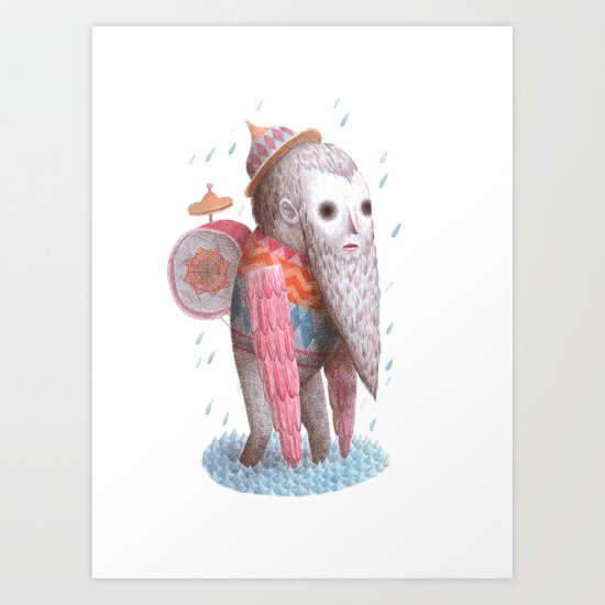 Rain Walker Art Print