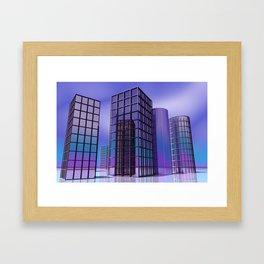 city -w5- Framed Art Print