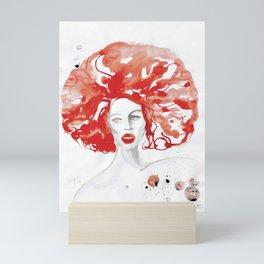 Mama Ru with a Huge Red Wig Mini Art Print