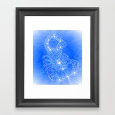 Scorpio, constellation series Framed Art Print