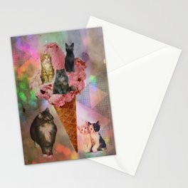The cat's that got the cream! Stationery Cards