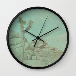 Joshua Tree on Color Implosion Film Wall Clock