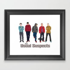 The Usual Suspect casual fashion style Framed Art Print