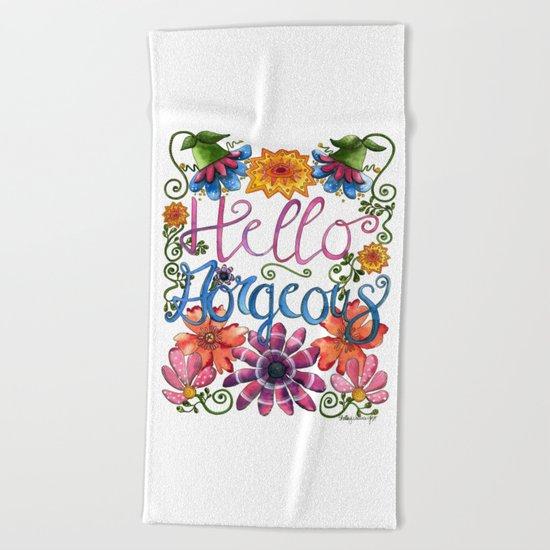Hello Gorgeous Beach Towel