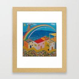 Intense seaside Framed Art Print