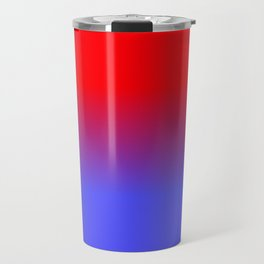 Neon Red and Bright Neon Blue Ombre Shade Color Fade Travel Mug