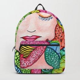 Watercolor Doodle Art | Groovy Girl Backpack