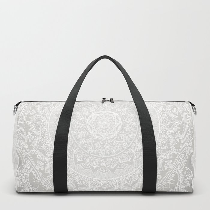 Mandala Soft Gray Duffle Bag