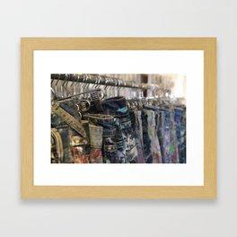 Paint Splattered Jeans Framed Art Print