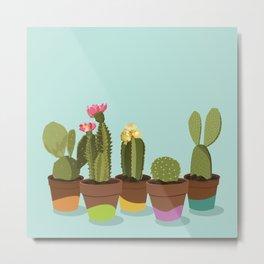 Cacti Gang Metal Print