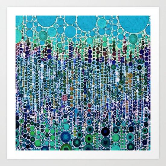 :: Blue Raspberry Martini :: Art Print