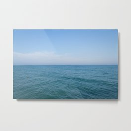 Floating to Blue Metal Print