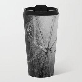 Black and White Cobweb Travel Mug