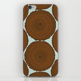 Whimsical Wood Stack iPhone Skin