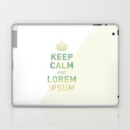 Keep Calm Lorem Ipsum Laptop & iPad Skin