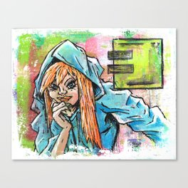 Another Girl in a Hoodie Canvas Print