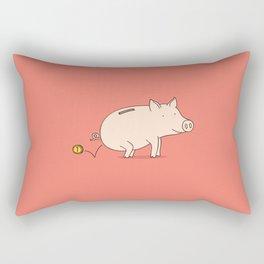 piggy bank Rectangular Pillow