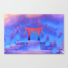 Tengami - Red Gate Canvas Print