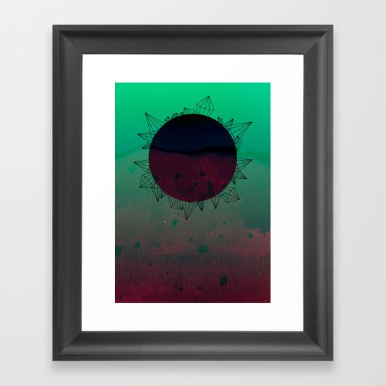 crystal sunrise Framed Art Print