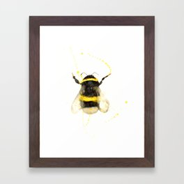 ORIGINAL WATECOLOR BUMBLE BEE Framed Art Print