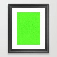 Brighter Future Framed Art Print
