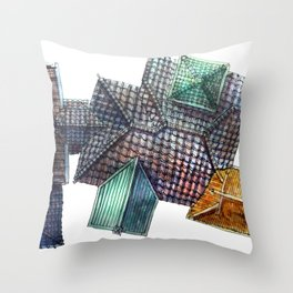 Taiwanese roofscapes 03 Throw Pillow