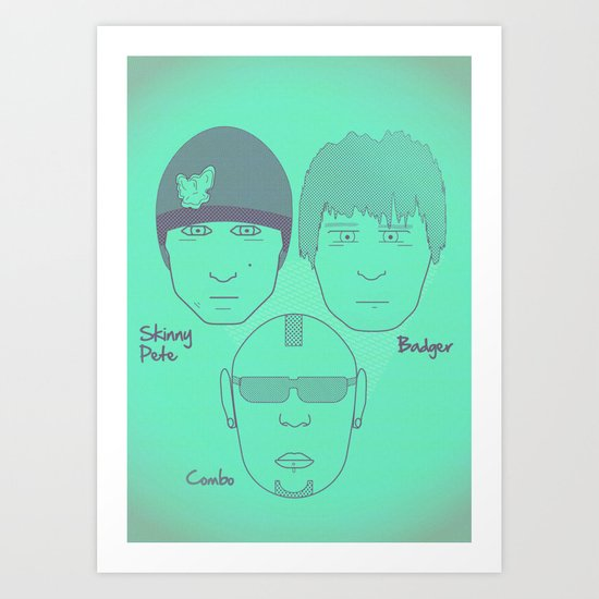 Breaking Bad - Faces - The Crew Art Print