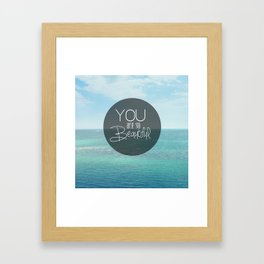 You Are So Beautiful. Framed Art Print