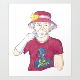 The Queen Of England for Ear Hustle Art Print