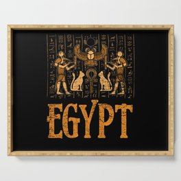 Egypt mural painting Serving Tray