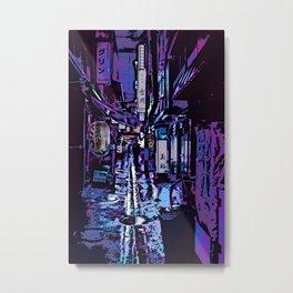 The rainy laneway Metal Print