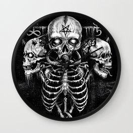 Black Sun Wall Clock
