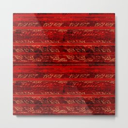 Leaf Strata (Ruby) Metal Print