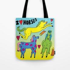 I <3 Horses Tote Bag