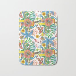 Flowers and Birds of Paradise Bath Mat
