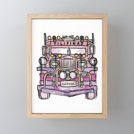 jeepney Framed Mini Art Print