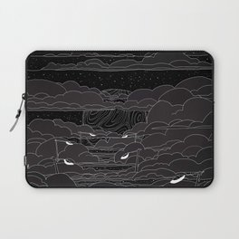 white ink 04 - city in the sky Laptop Sleeve
