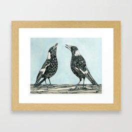 Magpie Song Framed Art Print