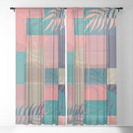 Tropical Mess #society6 #decor #buyart Sheer Curtain