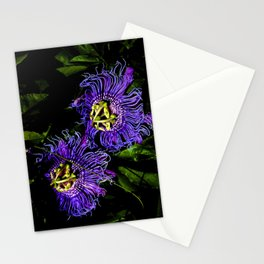 Purple Flower Stationery Cards