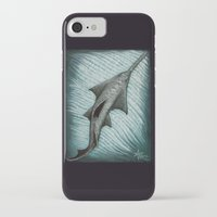 biology iPhone & iPod Cases featuring Sawfish - Acrylic Painting by Amber Marine