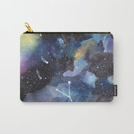 Galaxy sky in watercolors with star constellations Carry-All Pouch