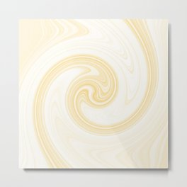 Molten swirls zen, yin and yang serendipity in Aspen-gold Metal Print
