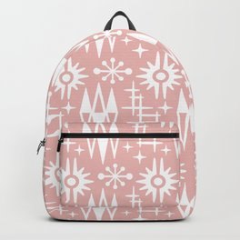 Mid Century Modern Atomic Space Age Pattern Dusty Rose Backpack