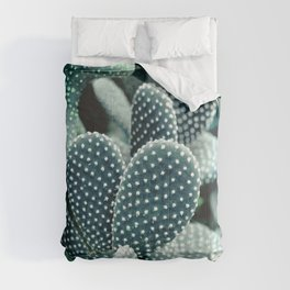 Prickly Pear Cactus Blue Green Digital Nature Art Comforters