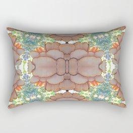 Pleurotus Ostreatus with Flammulina Velutipes Mushrooms Rectangular Pillow