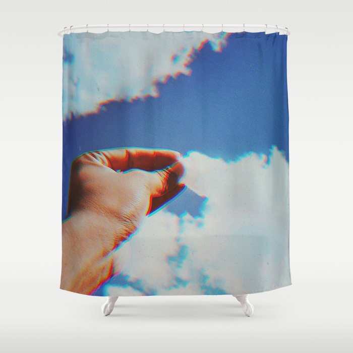Grabbing Clouds Shower Curtain